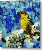 Warbler Of Spring Metal Print