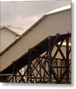 Warehouse Passage Metal Print