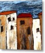 Warehouse Row Metal Print