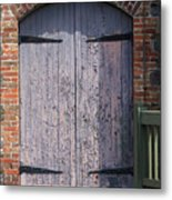 Warehouse Wooden Door Metal Print by Thomas Marchessault