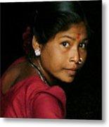 Warli Woman Metal Print