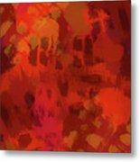 Warm Abstract 1 Metal Print