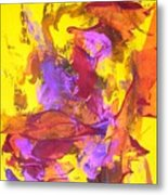Warm Abstraction Metal Print