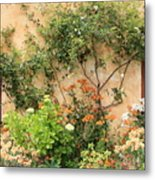 Warm Colors In Mission Garden Metal Print