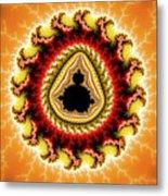 Warm Colors Orange Yellow Red Mandelbrot Fractal Metal Print