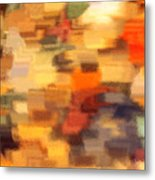 Warm Colors Under Glass - Abstract Art Metal Print