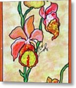 Warm Flower Study Metal Print