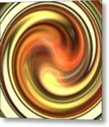 Warm Honey Swirl Metal Print
