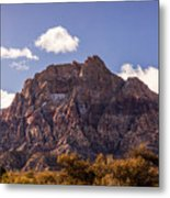 Warm Light In Red Rock Canyon Metal Print