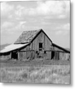 Warm Memories - Black And White Metal Print