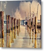Warm Reflections In The Marina Metal Print