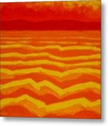 Warm Seascape Metal Print