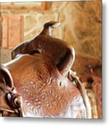 Warm Soft Brown Metal Print