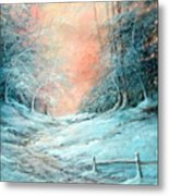 Warm Winter Fantasy Metal Print