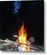 Warming Up By The Fire Metal Print