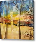 Warmth Waiting Beyond The Hill Metal Print