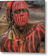 Warpath Shawnee Indian Metal Print by Randy Steele