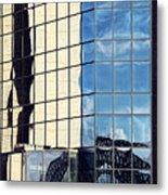 Warped Harbour Bridge Reflection By Kaye Menner Metal Print