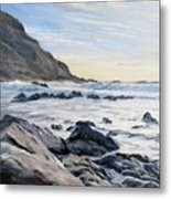 Warren Point Sunset Duckpool Metal Print
