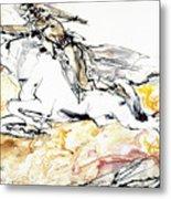 Warrior On White Horse Metal Print