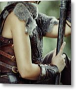 Warrior Princess In Battle Metal Print