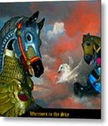 Warriors in the sky Metal Print