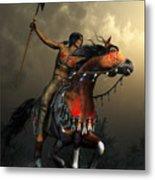 Warriors Of The Plains Metal Print