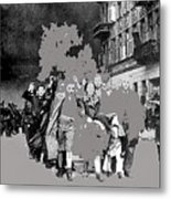 Warsaw Ghetto Uprising Number 1 1943 Color Added 2016 Metal Print