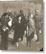 Warsaw Ghetto Uprising Number 2 1943 Color Added 2016 Metal Print