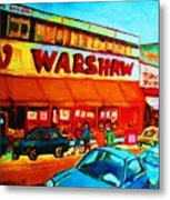 Warshaws Fruitstore On Main Street Metal Print