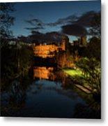 Warwick Castle At Night Metal Print