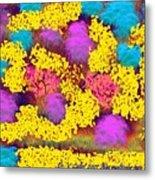 Was Multicolor Rain Metal Print