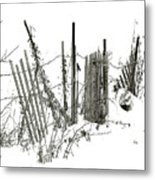 Was Once A Fence... Now Retired Metal Print