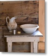 Wash Bowl Pitcher And Cup Metal Print