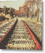 Washed Out Lines Metal Print