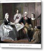 Washington And His Family Metal Print