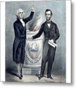 Washington And Lincoln Metal Print