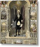 Washington As A Freemason Metal Print