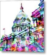Washington Capitol Color 1 Metal Print