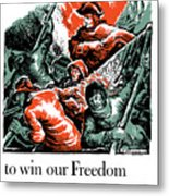 Washington Crossed The Delaware To Win Our Freedom Metal Print