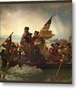 Washington Crossing The Delaware Metal Print