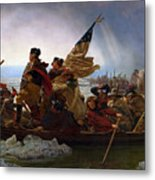 Washington Crossing The Delaware Painting - Emanuel Gottlieb Leutze Metal Print