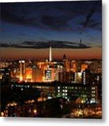Washington Monument Night Sky Metal Print
