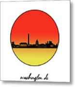 Washington Dc Skyline Minimalism 9 Metal Print