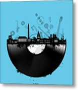 Washington Dc Skyline Vinyl 2 Metal Print