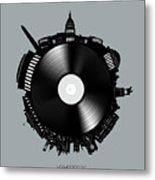 Washington Dc Skyline Vinyl 8 Metal Print