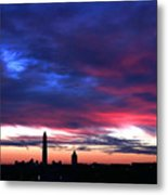 Washington Monument Dramatic Sunset Metal Print