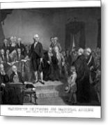 Washington Delivering His Inaugural Address Metal Print