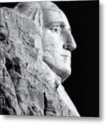 Washington Granite In Black And White Metal Print