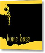 Washington Is Home Base Black Metal Print